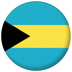 Bahamas Country Flag 58mm Button Badge
