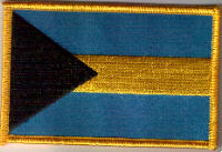 Bahamas Embroidered Flag Patch, style 08.