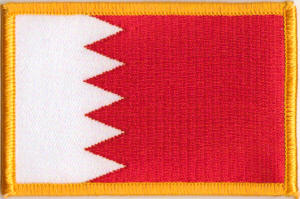 Bahrain Embroidered Flag Patch, style 08