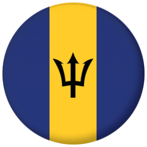 Barbados Country Flag 58mm Button Badge