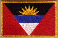 Antigua & Barbuda Embroidered Flag Patch, style 08.