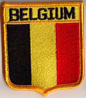 Belgium Embroidered Flag Patch, style 06.