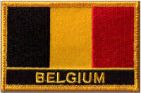 Belgium Embroidered Flag Patch, style 09.