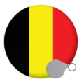 Belgium Keyrings - 58mm