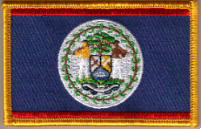 Belize Embroidered Flag Patch, style 08.