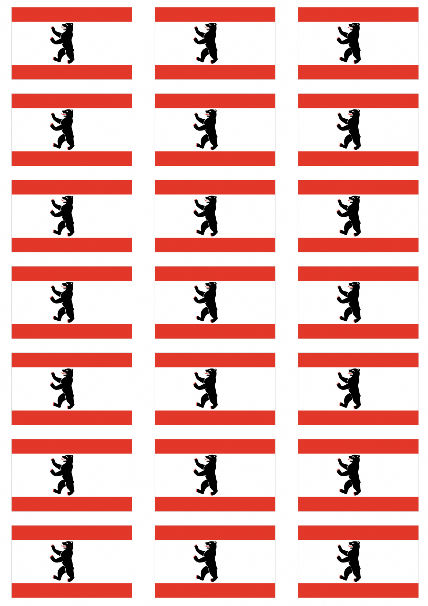 Berlin flag stickers 21 per sheet 105754 p png