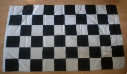 Black and White Checkered Large Flag - 8' x 5'.