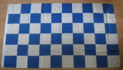 Blue and White Checkered Large Flag - 3' x 2'.