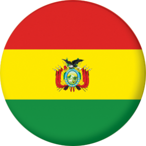 Bolivia Country Flag 58mm Button Badge