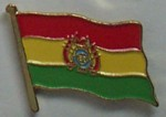 Bolivia Country Flag Enamel Pin Badge