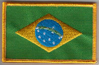 Brazil Embroidered Flag Patch, style 08.