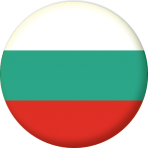 Bulgaria Country Flag 25mm Keyring