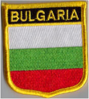 Bulgaria Embroidered Flag Patch, style 07.