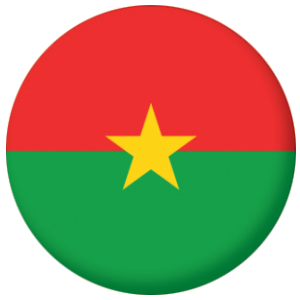 Burkina Faso Country Flag 25mm Pin Button Badge