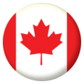 Canada Button Badges - 25mm