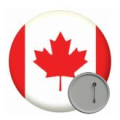 Canada Button Badges - 58mm