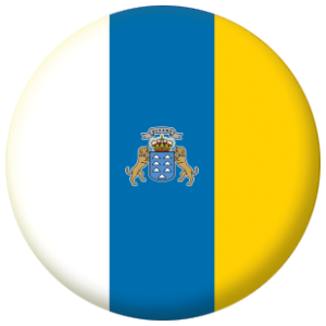 Canary Islands Flag 58mm Button Badge.