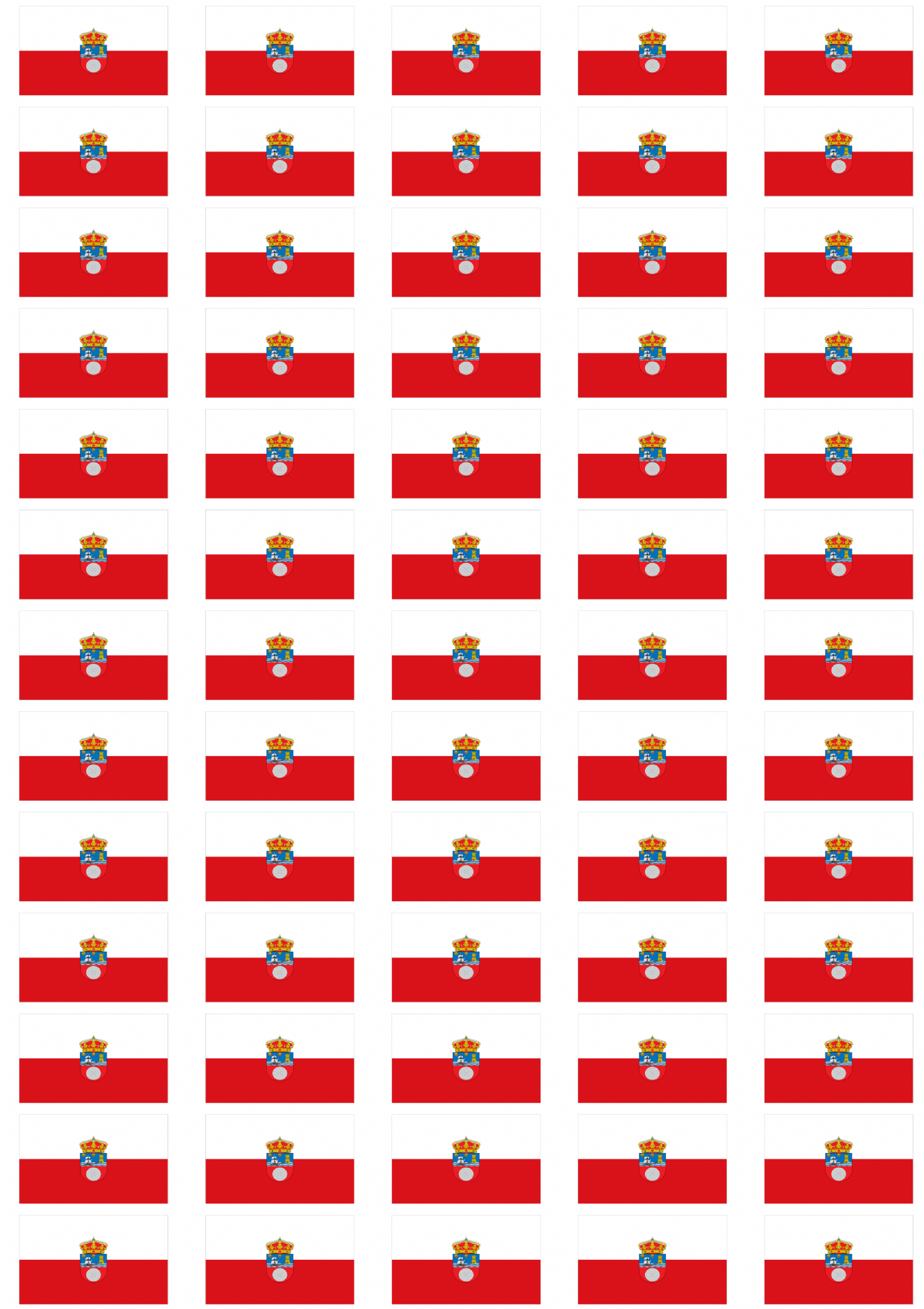 Cantabria flag stickers 65 per sheet