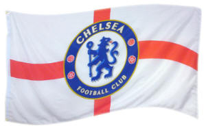 Chelsea Football Club Large Flag style 2 - 5' x 3'.