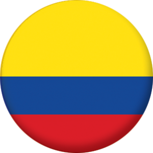 Colombia Country Flag 25mm Pin Button Badge