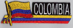 Colombia Embroidered Flag Patch, style 01.
