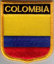 Colombia Embroidered Flag Patch, style 07.
