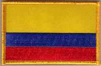 Colombia Embroidered Flag Patch, style 08.