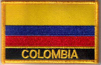 Colombia Embroidered Flag Patch, style 09.