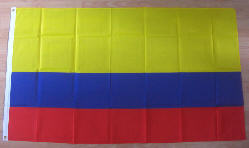 Colombia Large Country Flag - 3' x 2'.