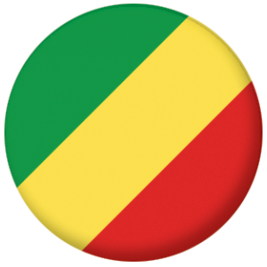 Congo-Brazzaville Country Flag 58mm Mirror