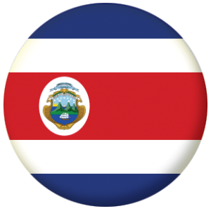 costa rica country flag 25mm pin button badge