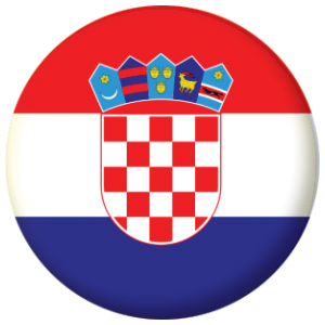 Croatia Country Flag 25mm Button Badge