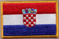 Croatia Embroidered Flag Patch, style 08.