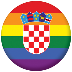 Croatia Gay Pride Flag Button Badge