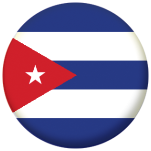 Cuba Country Flag 25mm Pin Button Badge