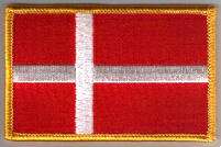 Denmark Embroidered Flag Patch, style 08.