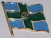 Derbyshire Country Flag Enamel Pin Badge
