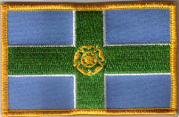 Derbyshire Embroidered Flag Patch, style 08.