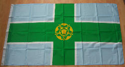 Derbyshire Large Country Flag - 5' x 3'.