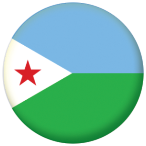Djibouti Country Flag 58mm Mirror