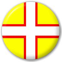 Dorset County Flag 58mm Mirror Keyring