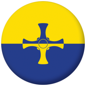 Durham County Flag 25mm Pin Button Badge