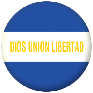 El Salvador State Flag 25mm Fridge Magnet