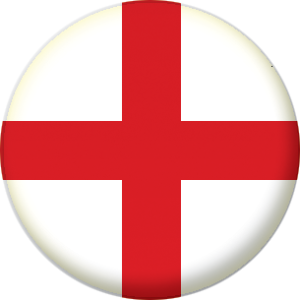 England Country Flag 58mm Keyring