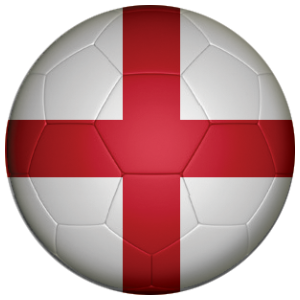 england football flag 25mm flat back