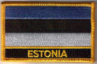 Estonia Embroidered Flag Patch, style 09.