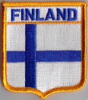 Finland Embroidered Flag Patch, style 06.