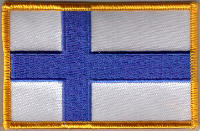 Finland Embroidered Flag Patch, style 08.