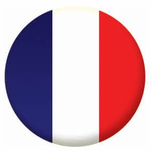 France Country Flag 25mm Flat Back