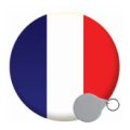 France Keyrings - 58mm
